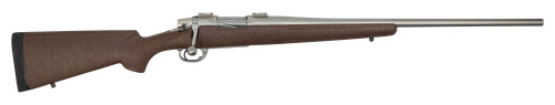 "Nesika Sporter 7mm-08 Rem, 24"" Stainless Steel Barrel, Bell & Carlson Medalist Stock, Chocolate Brown/Tan Webbing"
