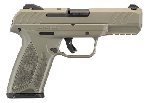 "Ruger Security-9 9mm, 4"" Barrel, Jungle Green Full Coverage, 15rd Mag"