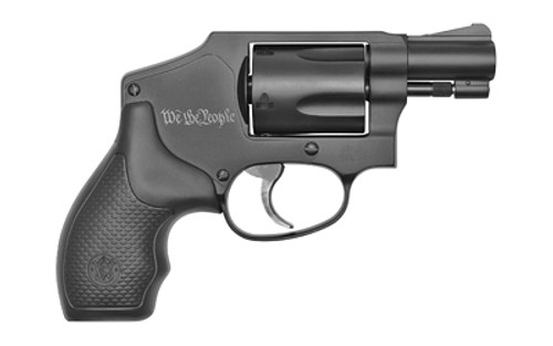 """Smith & Wesson 442, Revolver, 38 Special, 1.875"""", Alloy Frame, Black, Rubber Grips, 5 Round, """"We The People"""" Laser Engraved on Frame"""
