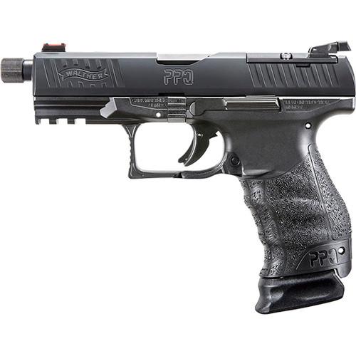 "Walther PPQ Classic Q4 TAC Striker Fired, Full Size 9mm, 4.6"" Threaded Barrel, Polymer Frame, Black Tenifer Finish, 15Rd, 3 Magazines"