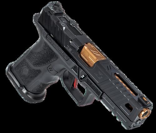 "ZEV Technologies O.Z-9 Compact, Covert 9mm, 4.5"" Bronze Barrel, Steel Frame, Polymer Grip, Black, 15rd"