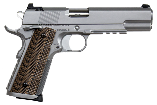 """Dan Wesson Specialist 9mm Luger 5"""" Barrel Stainless Steel Black/Brown G10 Grip, 10rd Mag"""