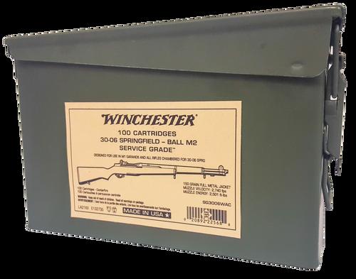 Winchester Service Grade  30-06 Springfield 150gr, FMJ, 20rd Box