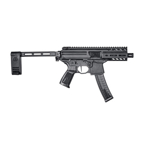 "Sig MPX Copperhead 9mm, 4.5"" Barrel, Aluminum Frame, Black, Pivoting Contour Brace, 20rd"