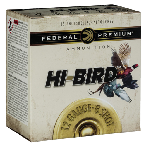 "Federal Premium Upland Hi-Bird 12 Ga, 2.75"", 1 1/4oz, 6 Shot, 25rd Box"