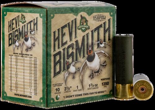 "Hevishot Hevi-Bismuth Waterfowl 10 Ga, 3.50"", 1 3/4oz, 1 Shot, 25rd Box"