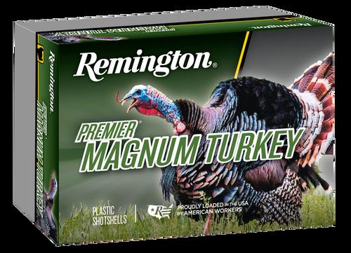 "Remington Premier Magnum Copper-Plated Buffered Turkey 10 Ga, 3.5"", 2-1/4oz, 4 Shot, 5rd Box"