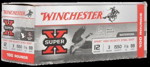 "Winchester Super-X Xpert High Velocity 12 Ga, 3.50"", 1 1/8oz, 3 Shot, 100rd Box"