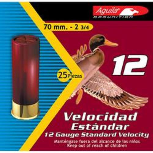 "Aguila Standard Velocity 12 Ga, 2-3/4"", #7.5 Lead Shot, 1-1/8 oz, 25rd/Box"