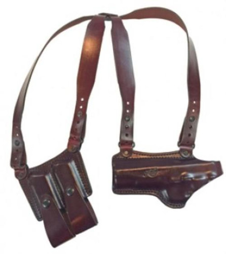 Kimber 5 Shoulder rig with Kimber logo brown by Mitch Rosen