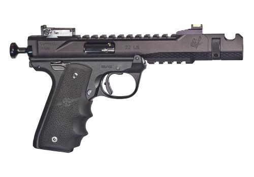 "Volquartsen Black Mamba, 4.5"", Hi-Viz Front Sight, Single Port Comp, Black Anodized Aluminum"