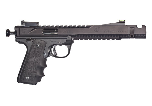 "Volquartsen Black Mamba, 6"" Barrel, Hi-Viz Front Sight, Single Port Comp, Black Anodized Aluminum"
