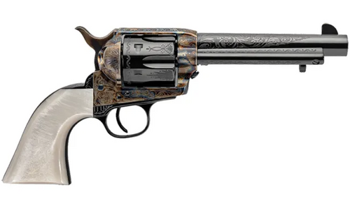 "Uberti 1873 Cattleman Outlaws & Lawmen ""Dalton"" .45 Colt, 5.5"", Pearl, Blued, 6rd"