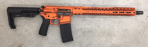 "Black Rain Outbreak AR-15 Billett Special Edition 5.56/223 16"" Barrel, Orange Battleworn Cerakote, 15"" Slim Rail 30rd Mag"