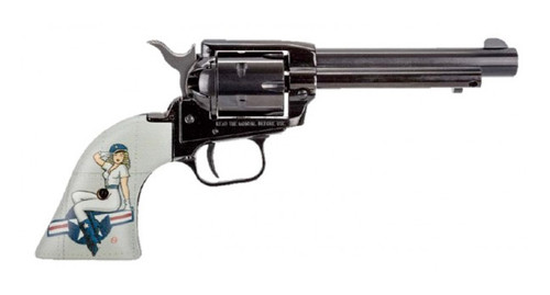 """Heritage Rough Rider .22 LR, 4.75"""" Barrel, Fixed Sights, Lady Luck Pin Up, 6rd"""