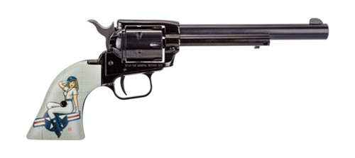 """Heritage Rough Rider .22 LR, 6.5"""" Barrel, Fixed Sights, Lady Luck Pin Up, 6rd"""
