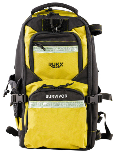 ATI RUKX Gear Survivor Backpack, Stores ATI Nomad In Rear Pocket, Yellow