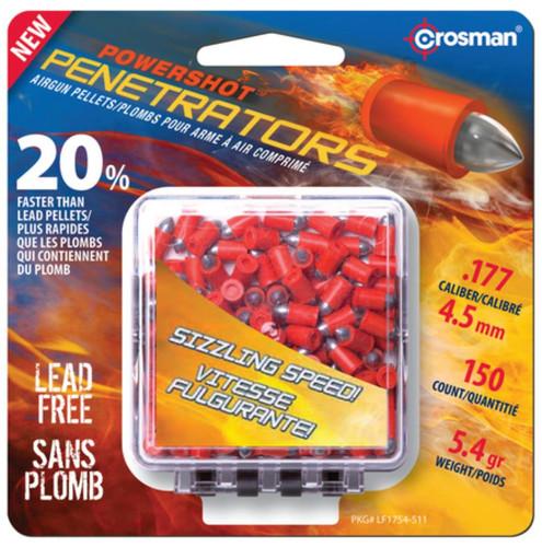 Crosman Air Guns Powershot Penetrators Fast Flight .177 Caliber Pellets, 150/Pack