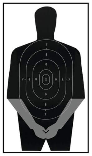"Looper Law Enforcement Politically Incorrect Gag Target 23x35"", 100/Package"