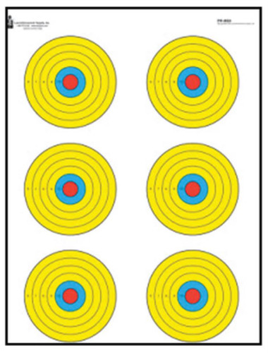 """Looper Law Enforcement High Visibility Fluorescent 6 Bulls-Eye Target, 17.5x23"""", 100/Package"""