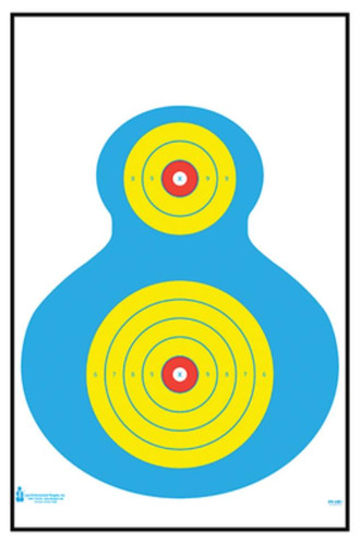 """Looper Law Enforcement High Visibility Fluorescent Silhouette Target 19x25"""", 100/Pack"""