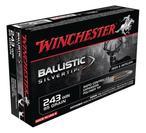 Winchester Supreme 243 Win Ballistic Silvertip 95gr, 20Box/10Case