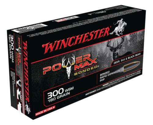 Winchester Power-Max .300 Winchester Short Magnum 180 Grain Protected Hollow Point Bonded 20rd Box