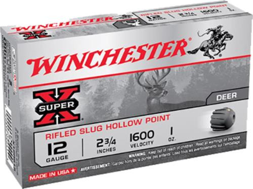 "Winchester Super-X Rifled Lead 20 Ga, 2.75"", 3/4oz, Slug, 15rd/Box"