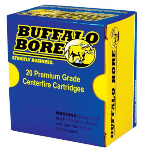 Buffalo Bore .38 Special+P 125gr, Jacketed Hollow Point, 20rd/Box