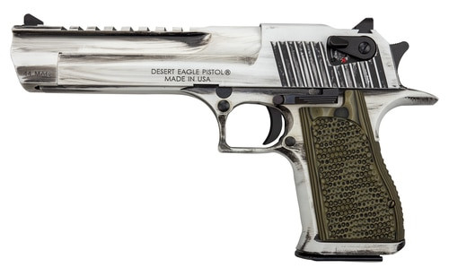 "Desert Eagle Apocalyptic 44 Mag, 6"" Barrel, White Matte Distressed Finish, 8rd Mag"