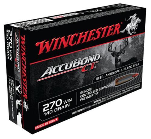 Winchester Supreme 270 Win AccuBond CT 140gr 20rd/Box