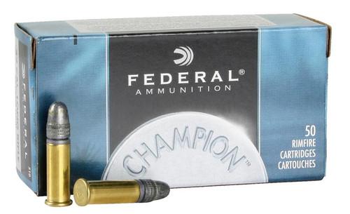 Federal Champion 22LR, 40 Gr, Solid, 50rd/Box 100 Box/Case