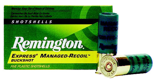 Remington Express Managed Recoil Buckshot 12 ga 2.75 8 Pellets 00 Buck Shot 5rd Box