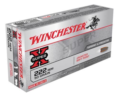 Winchester Super X 222 Remington Pointed Soft Point 50gr, 20Box/10Cs
