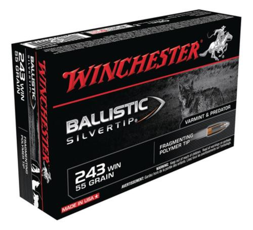 Winchester Supreme 243 Win Ballistic Silvertip 55gr, 20rd Box