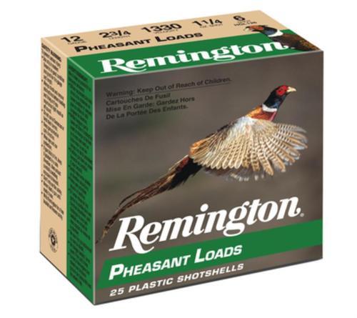 Remington Pheasant 12 Gauge, 2.75 Inch, 1330 FPS, 1.25 Ounce, 6 Shot, 25rd/Box