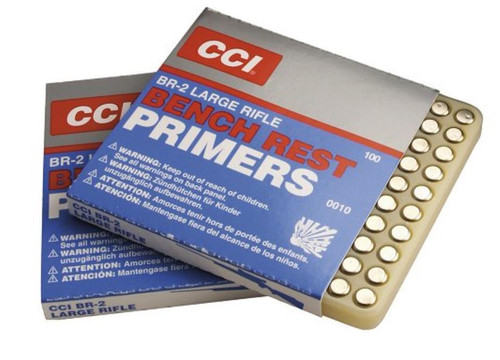 CCI Primers Large Rifle BR2, 1000 Primers (10 Boxes of 100 Primers)
