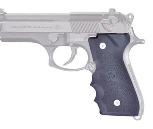Hogue Beretta 92/96 Series Rubber Grip, Finger Grooves Black