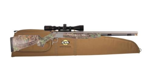 "CVA Optima v2 209 Magnum Series .50 Caliber 26"" Stainless Steel Fluted Barrel Realtree Xtra Green Stock KonusPro 3-9x40 Scope Padded Case"