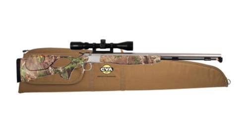 "CVA Optima v2 209 Magnum Series .50 Caliber 26"" Stainless Steel Fluted Barrel Realtree Xtra Green Thumbhole Stock KonusPro 3-9x40 Scope Padded Case"