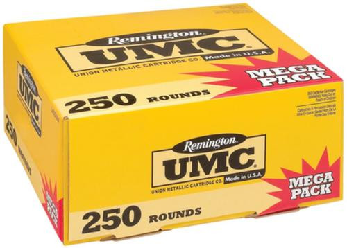 Remington UMC .40 S&W 165gr, Metal Case, 250rd/Pack
