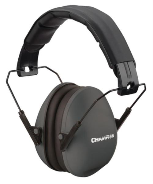 Champion Slim Passive Ear Muff 21Db Noise Reduction Black