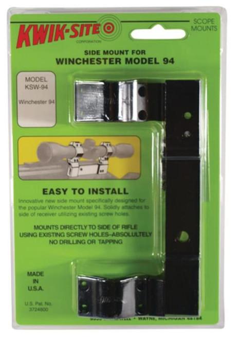 Kwik-Site Side Mount For Winchester 94 (Regular) Side Mount Style Black