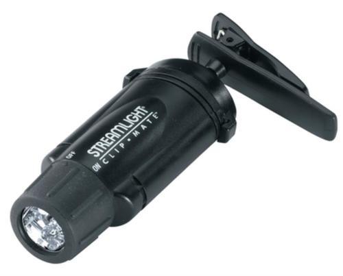 Streamlight ClipMate Green LEDs, Alkaline Batteries, Black