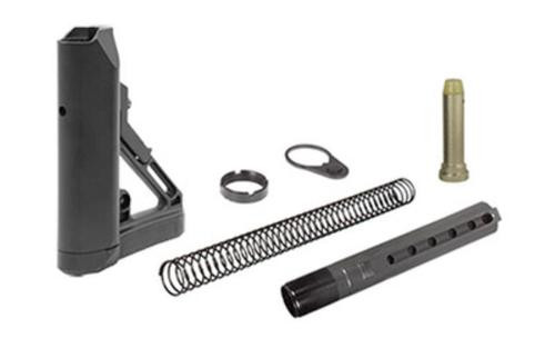 Leapers, Inc. - UTG Model 4 Combat Ops S1, Stock Kit, 6-Position Mil-Spec Stock Assembly, includes Extension Tube, Buffer, Buffer Spring, Tear-drop Ring and Castle Nut, Black