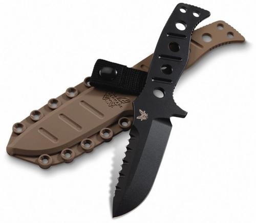 Benchmade 375 Adamas Fixed Blade Drop Point Knife *Rangers Lead the Way*