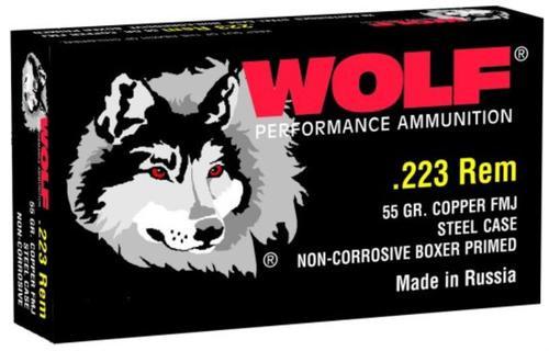 Wolf Ammunition, .223 Rem, 55 Gr, FMJ, 20rd Box