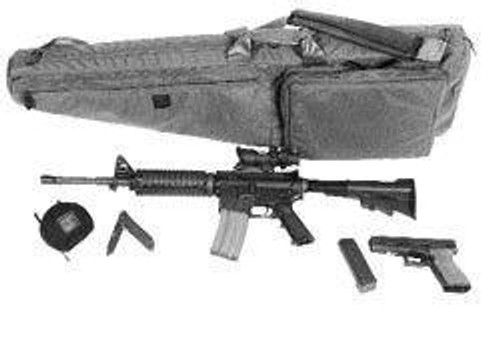 BlackHawk Scoped Rifle Case, 51 Inch, Black