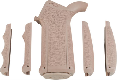 Mission First Tactical Engage AR15/M16 Pistol Grip With Three Interchangeable Front and Back Straps Flat Dark Earth