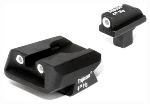 Trijicon Bright & Tough Night Sights for Colt Officers Pistol 3 dot front & Novak rear night sight set